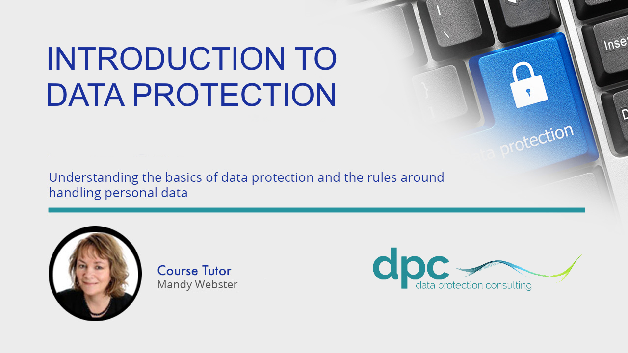 An Introduction to Data Protection and GDPR - Online Training in the EU