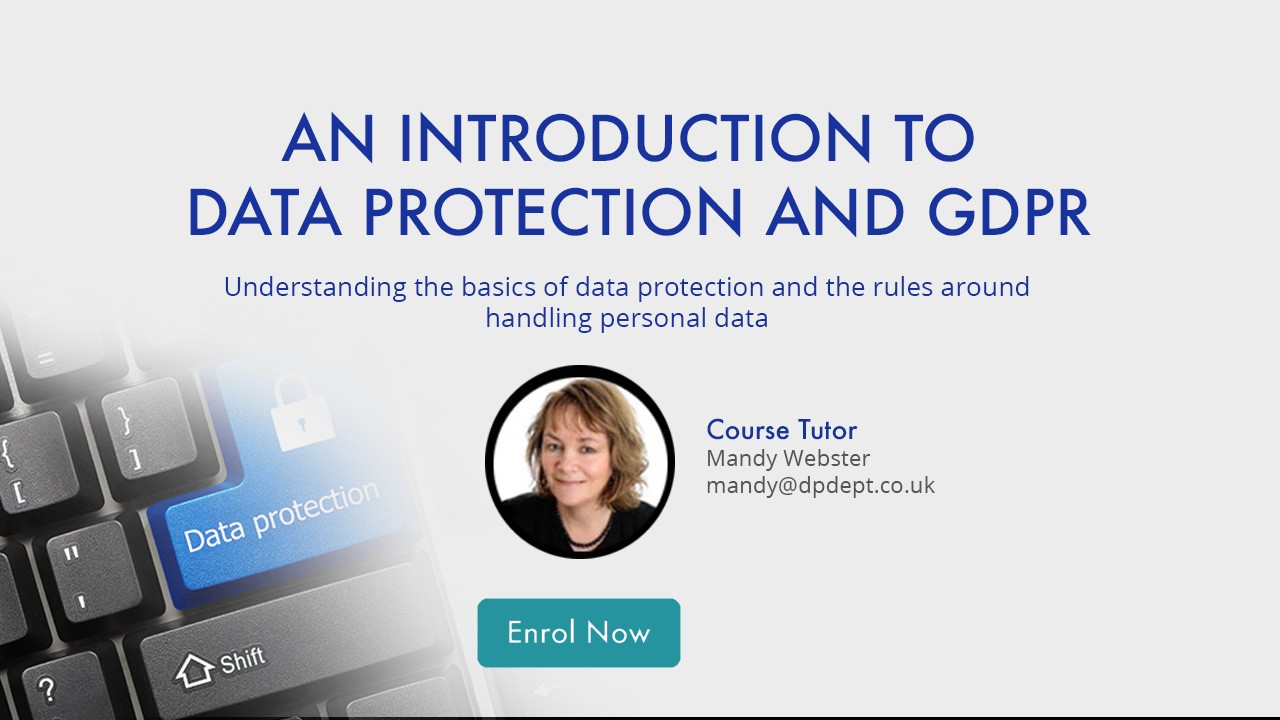 Clickable Button to Enrol - An introduction to GDPR - Online Training Course for GDPR
