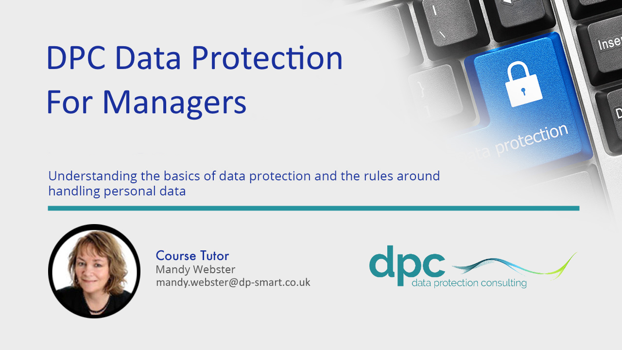 DPC Data Protection for Managers - Online Training